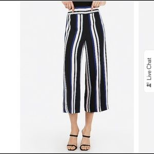 Express high waisted striped culottes